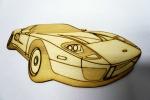 dřevěné autíčko